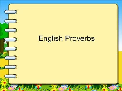 常见英语谚语100句